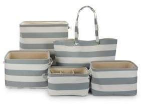 Creative Bath Five-Piece Canvas Storage Set