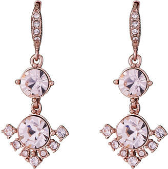 Givenchy Rose Gold-Tone Blush Stone Double Drop Earrings