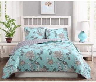 Quaint Home Amelie 3-Piece Reversible Quilt Set