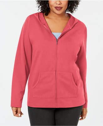 Karen Scott Plus Size Hoodie Jacket