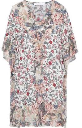 See by Chloe Ruffled Floral-Print Silk-Georgette And Crepe De Chine Mini Dress