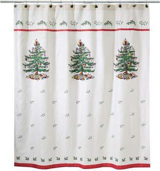 Avanti Closeout! Spode Christmas Tree Shower Curtain Bedding
