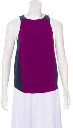 Rag & Bone Leather-Trimmed Colorblock Top