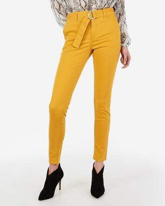 Express High Waisted Belted Stretch Twill Leggings