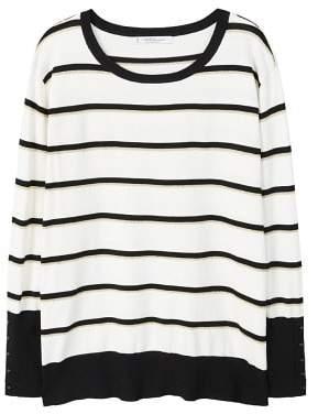 Violeta BY MANGO Metallic striped sweater