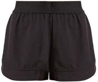 adidas by Stella McCartney Essentials Logo Print Performance Shorts - Womens - Black