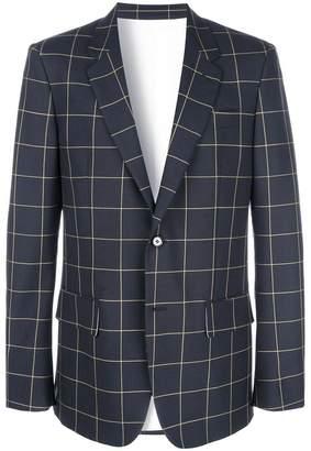 Calvin Klein check formal blazer
