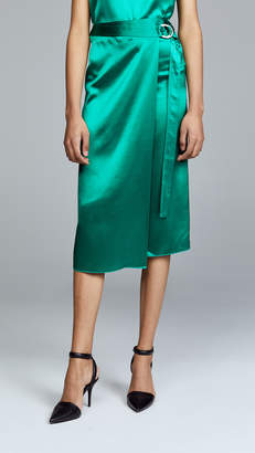 Dion Lee Silk Satin Tie Skirt