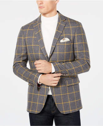 Tallia Men Slim-Fit Windowpane Sport Coat
