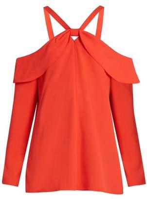 Proenza Schouler Off The Shoulder Crepe Top - Womens - Red