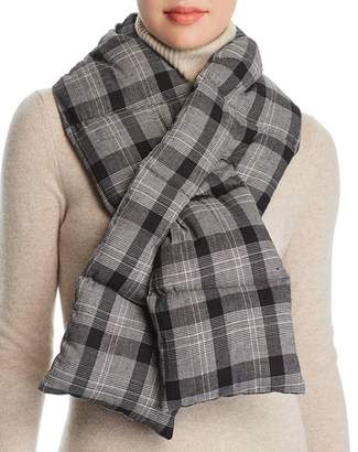 Aqua Plaid Puffer Scarf - 100% Exclusive