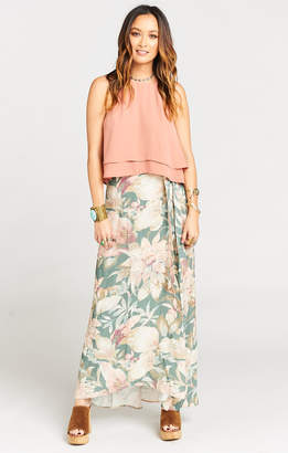 Show Me Your Mumu Siren Wrap Skirt ~ Petal Pines Breeze