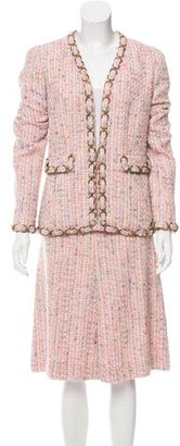 Chanel Embellished Tweed Skirt Suit $1,095 thestylecure.com