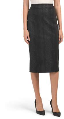 Vented Ponte Skirt