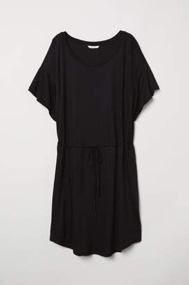 H&M T-shirt Dress with Tie Belt - Black