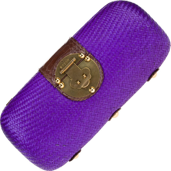 Purple Weave Clutch by Kotur