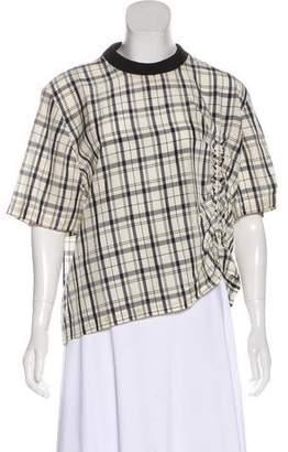 Public School Plaid Short Sleeve Top