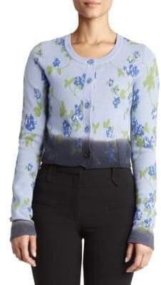 Altuzarra Women's Floral Merino Wool Cardigan - Hyacinth - Size Medium