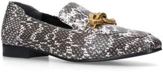 Tory Burch Jessa Snakeskin Loafers