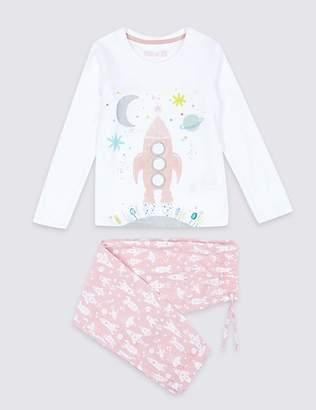 Marks and Spencer Pure Cotton Animal Rocket Pyjamas (1-7 Years)
