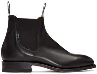 R.M. Williams Black Craftsman Chelsea Boots