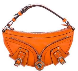 Gianni Versace Leather Medusa Moon Bag