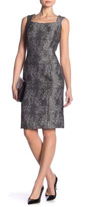 Kasper Sleeveless Textured Woven Dress