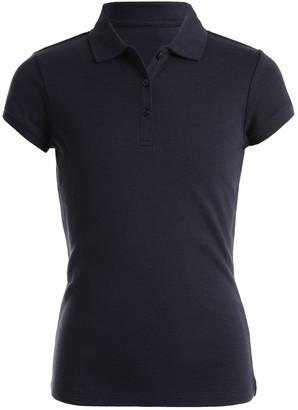 Chaps Girls 4-16 & Plus School Uniform Picot Polo Shirt