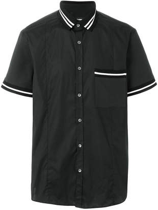 Les Hommes short-sleeve fitted shirt