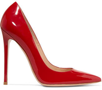 Gianvito Rossi 110 Patent-leather Pumps - Red