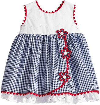 Bonnie Baby Eyelet & Seersucker Dress, Baby Girls