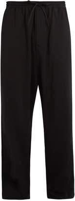 Y-3 3-Stripes wide-leg cotton-blend track pants