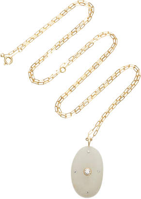 Cvc Stones One-of-a-Kind Gloss 18K Gold Stone And Diamond Necklace