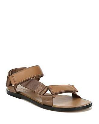 Vince Parks Flat Leather Grip-Strap Sandals