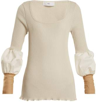 Toga Teleco mesh-cuff ribbed-knit sweater