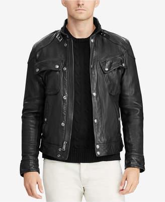 Polo Ralph Lauren Men Leather Biker Jacket
