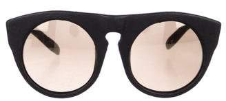 Alexander Wang Leather Tinted Sunglasses