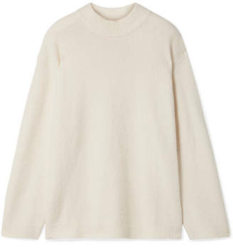 Elizabeth and James Josette Oversized Cotton-blend Bouclé Sweater - Ivory