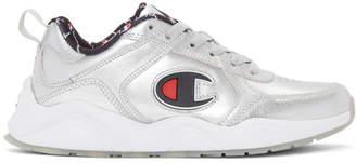 Champion Reverse Weave Silver 93Eighteen Metallic Sneakers