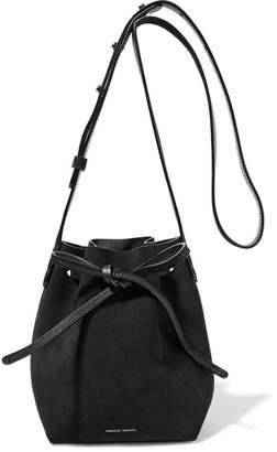 Mansur Gavriel - Mini Mini Suede Bucket Bag - Black $395 thestylecure.com