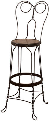 Rejuvenation Tall Wrought Iron Wire Stool