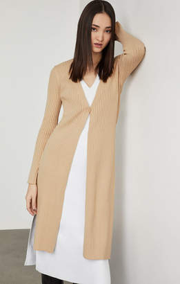 1f23d827174 BCBGMAXAZRIA Ribbed Knit Long Cardigan