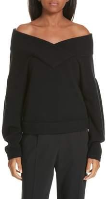 Ji Oh Crop Wool & Cashmere Sweater