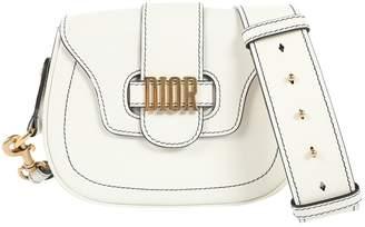 Christian Dior D-Fence White Leather Handbag