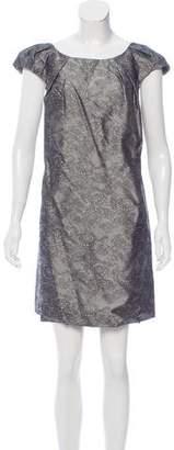Behnaz Sarafpour Printed Silk Dress