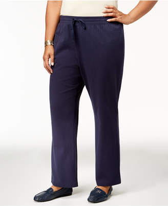 Karen Scott Plus Size Knit Drawstring Pants