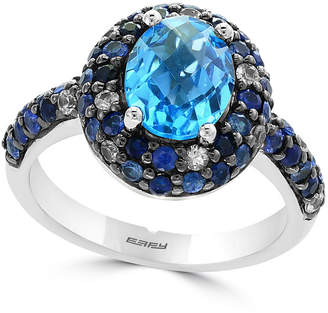 Effy Blue Topaz (2 ct. t.w.) and Sapphire (1-1/2 ct. t.w.) Ring in Sterling Silver