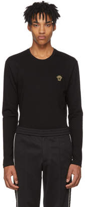 Versace Black Long Sleeve Small Medusa T-Shirt