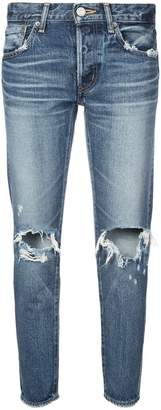 Moussy Vintage cropped ripped knee jeans