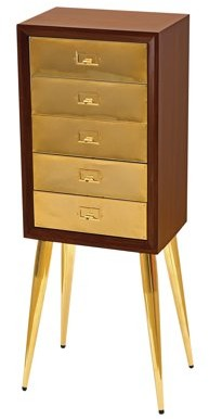 ACME Furniture ACME Gannon Jewelry Armoire, Gold & Dark Mahogany